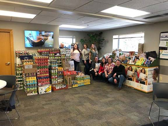 Appleton WI Food Drive - Over 8k Items Donated